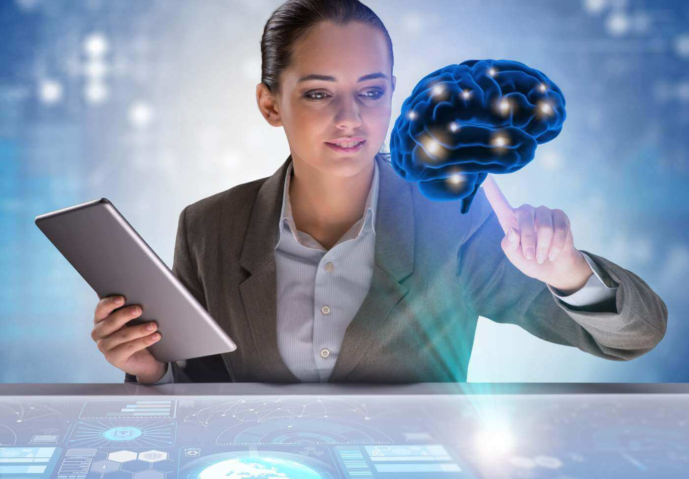 Businesswoman in artificial intelligence